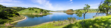Panoramic View Of Calero Reservoir, Calero County Park, Santa Clara County, South San Francisco Bay Area, California