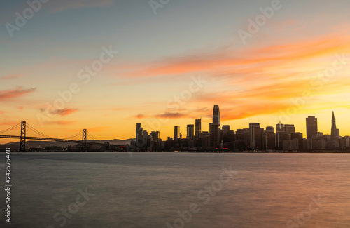 Foto op Plexiglas Chicago San Francisco Skyline