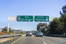 Driving On I80 In East San Fra...