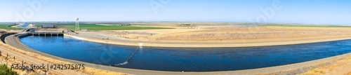 Panoramic view of the Dos Amigos pumping plant which pushes water up hill on t Wallpaper Mural