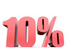 Ten Percent Symbol .3d Rendering
