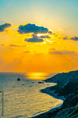 Printed kitchen splashbacks Cappuccino Aphordite's beach on Cyprus