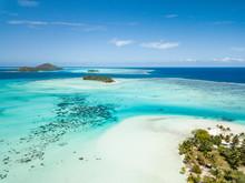 Aerial Image From A Drone Of Blue Lagoon And Otemanu Mountain At Bora Bora Island, Tahiti, French Polynesia, South Pacific Ocean (Bora Bora Aerial).