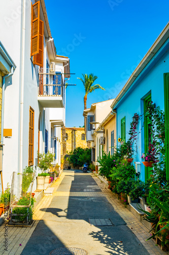 Foto op Aluminium Cyprus narrow street in the residential area of Nicosia, Cyprus