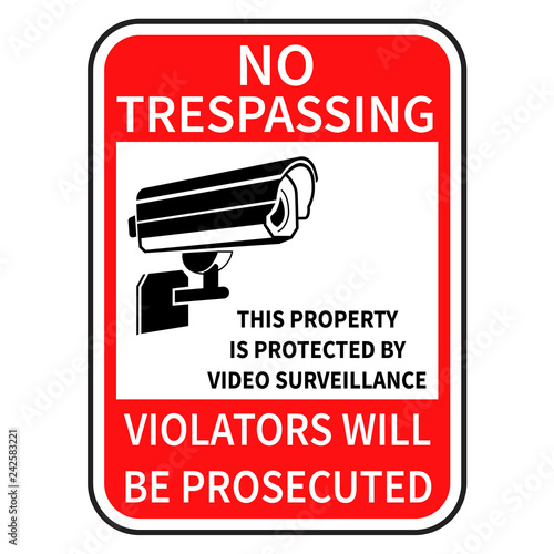 Fotomural no trespassing sign