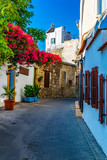 Fototapeta Uliczki - narrow street in the old town of Kyrenia, Cyprus