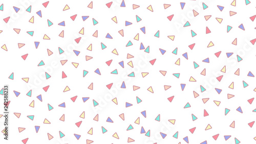 Abstract pattern with triangles in Soft gradient pastel background in sweet color - 242588233