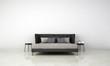 Leinwanddruck Bild - 3D rendering interior design of minimal bedroom and white wall texture background