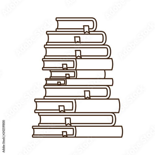 Fotografía  stack of books isolated icon