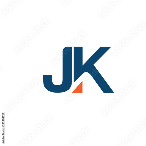 Creative Strong Initial Letter J And K Logo Vector Concept