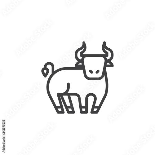 Photo Ox Chinese zodiac line icon