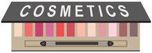 Cosmetic Set With Eye Shadows