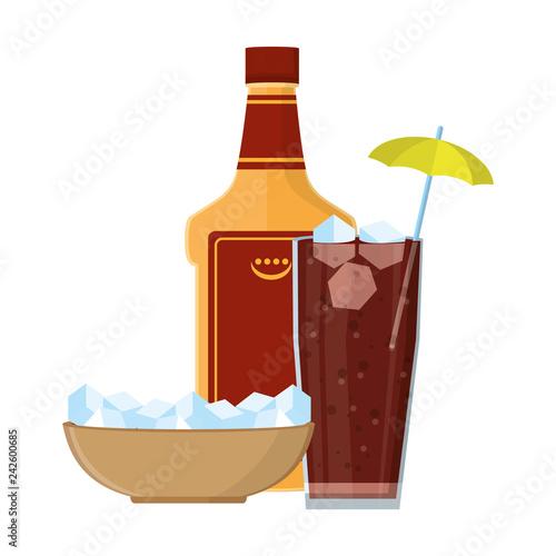 Fotografie, Obraz  alcoholic drink cartoon
