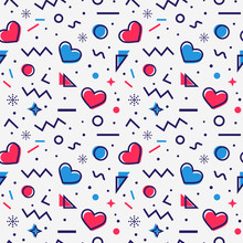 Hearts Seamless Pattern In Mem...