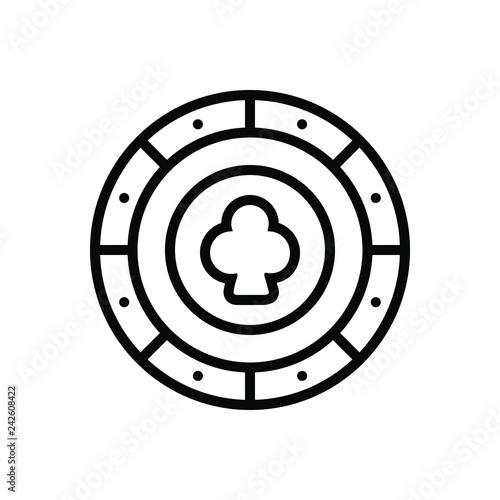 Foto  Black line icon for gambling