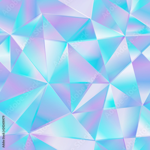 obraz dibond Blue triangle seamless pattern