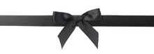 Single Black Bow Isolated On W...