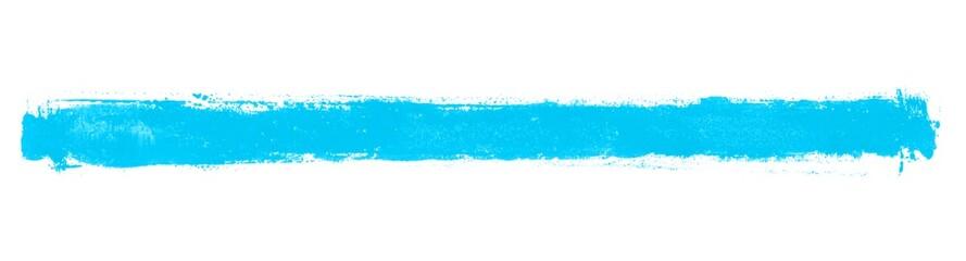 Langer blauer handgemalter isolierter Pinselstreifen