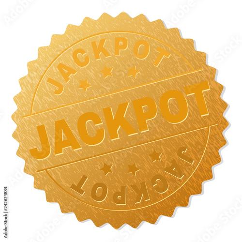 фотография  JACKPOT gold stamp badge
