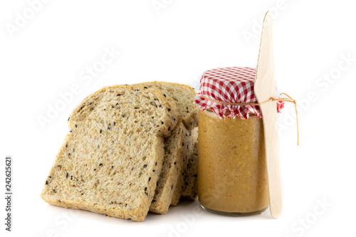 Fotografie, Obraz  sliced Whole wheat bread and peanut Butter