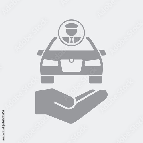 Fotografie, Obraz  Chauffeur service for car transfer