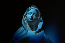 Virgin Mary On Blue Light