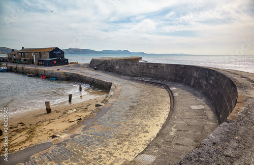 Cadres-photo bureau Ville sur l eau Victoria Pier of the Cobb. Lyme Regis. West Dorset. England