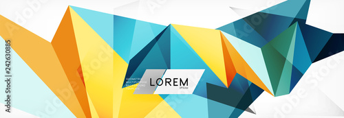 Fotografia  Mosaic triangular low poly style abstract geometric background