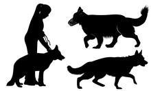 Set Of Dog Silhouettes German ...