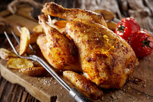 Grilled Seasoned Young Poussin...