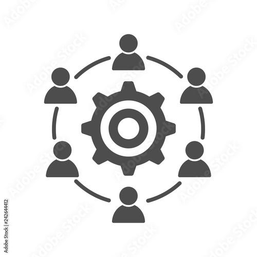 Development interacting communication meeting icon Wallpaper Mural