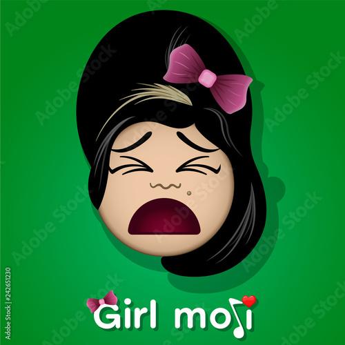 Obraz na plátně Amy Winehouse emoji