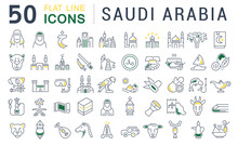 Set Vector Line Icons Of Saudi...