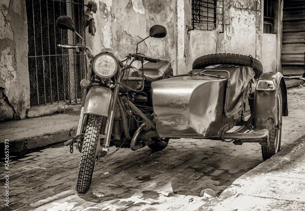 Fototapeta vintage motorcycle with sidecar