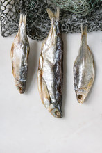 Dried Fish Or Stockfish On Fis...