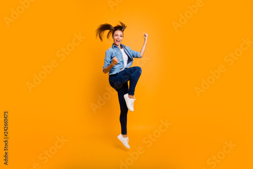 Fotografía  Full length body size view of nice cool attractive adorable slim