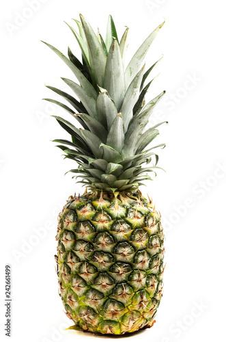 Fototapety, obrazy: fresh pineapple on white background