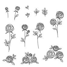 Illustration Set Of Hand Drawn...