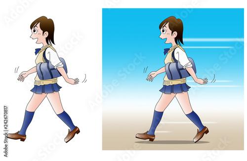 Fotografia  通学、歩く02