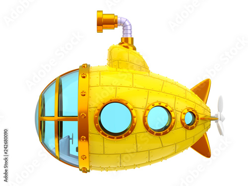 Photo  cartoon yellow submarine side