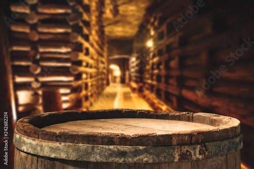 Leinwand Poster Barrel of free space and blurred background