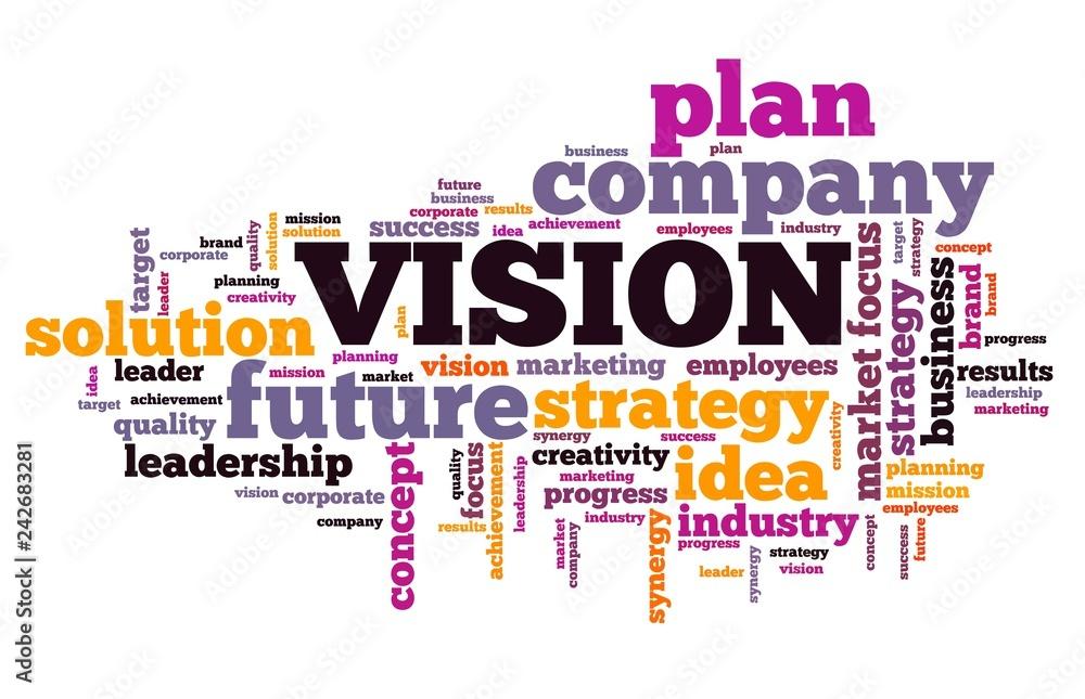 Fototapeta Vision word cloud