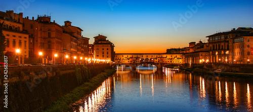 Tuinposter Europa Florence (Italie) - Ponte Vecchio