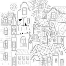 Cityview Coloring Page