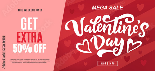 Foto Valentine's day sale long banner template