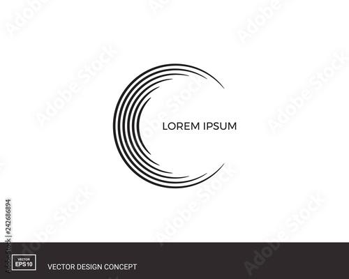 Fotografía  Circles of lines. Abstract logo design.