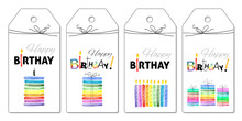 Set Of Party Hand Tags. Cute H...