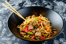 Udon Stir-fry Noodles With Chi...