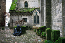 Back Yard Of Old Medieval Chur...