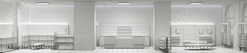 Fotografía  shop, mall, shopping mall, interior visualization, 3D illustration
